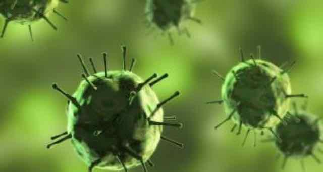 vírus da cor verde