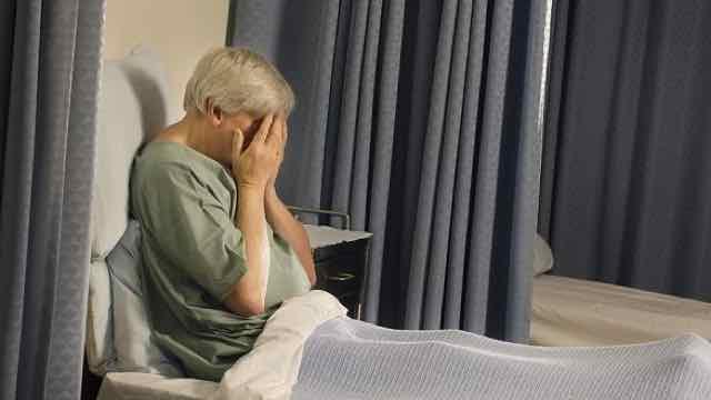 idoso em depressao no hospital