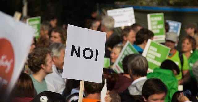 manifestantes em protesto