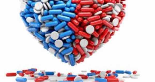 coração feito de pilulas