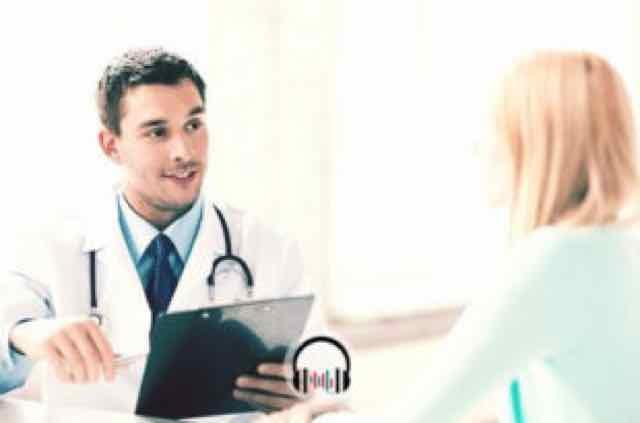 paciente em consulta com o medico