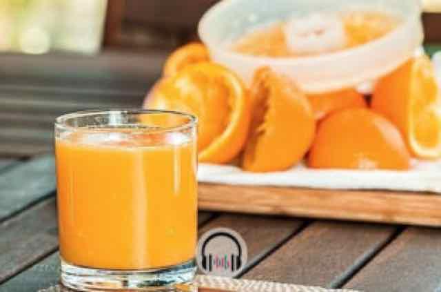 copo de suco de laranja da fruta