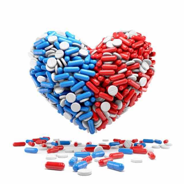 coracao formado por pilulas