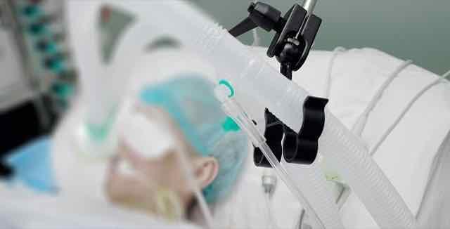 paciente em ventilação mecânica na UTI