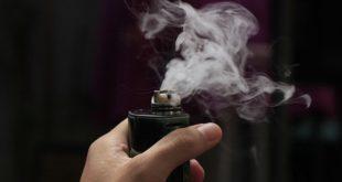 cigarro eletrônico vaporizando