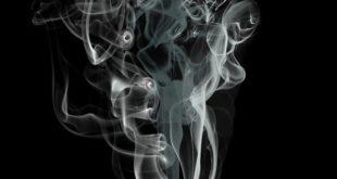 fumaça de cigarro de fumantes