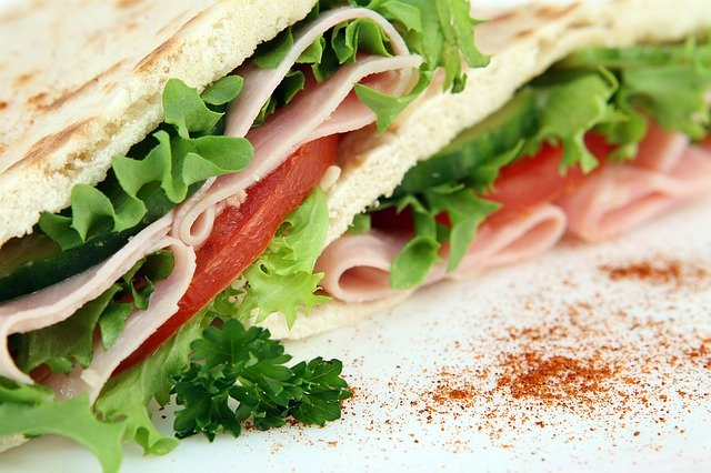sanduíches de dieta de pacientes oncológicos