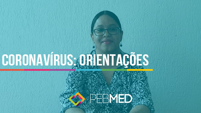 médica falando sobre orientações para coronavírus