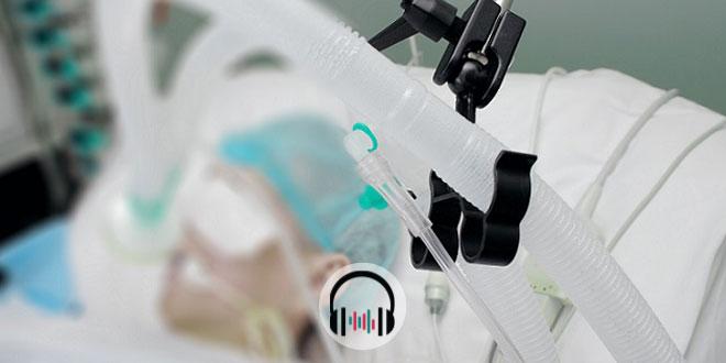 paciente internado após intubação orotraqueal com coronavírus