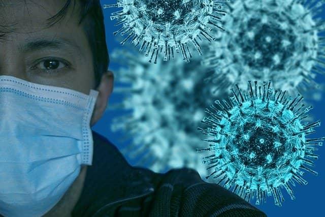 Representação gráfica do novo coronavírus, SARS-CoV-2, causador da Covid-19