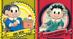 personagens da turma da mônica como pioneiras de enfermagem