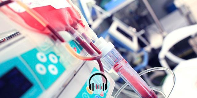 bolsa de sangue em UTI com pacientes com anticoagulação para covid-19