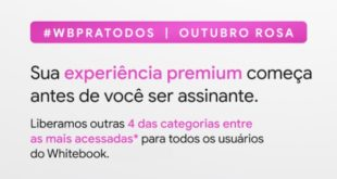 Novas categorias premium liberadas no Whitebook