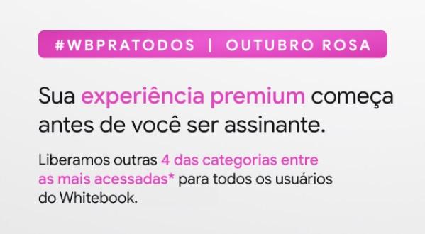 Novas categorias premium liberadas no Whitebook