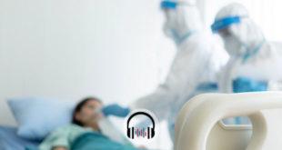 médicos tratando paciente com covid-19 no climatério
