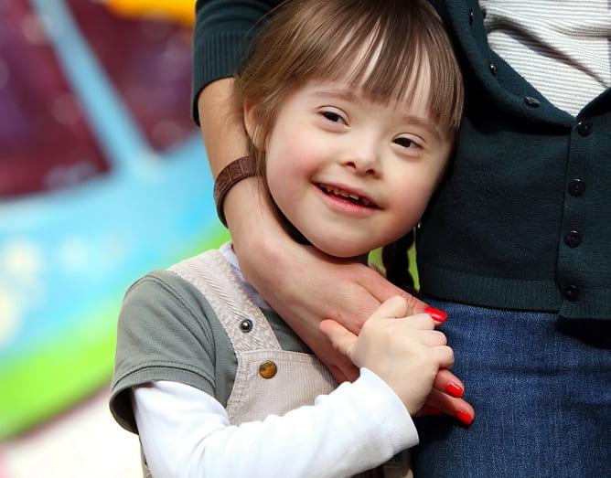 criança com síndrome de down diagnosticada por NIPT